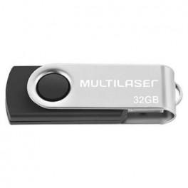 Pendrive Multilaser Twist Preto 32G