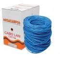 CABO DE REDE CAT5 - AZUL - MEGACAMPOS - CAIXA 300 METROS